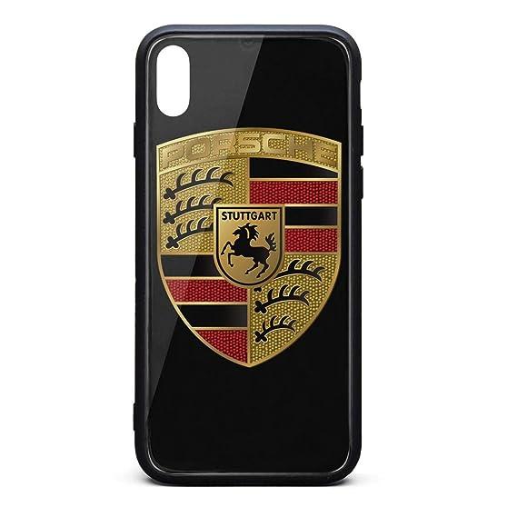 buy popular 77190 8f0ec Amazon.com: iPhone X Case Porsche-Logo- Protective Phone Case for ...