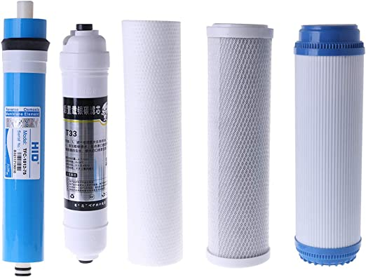 Nysunshine - Juego de 5 filtros para purificador de agua, 10 pulgadas para 75 galones: Amazon.es: Hogar