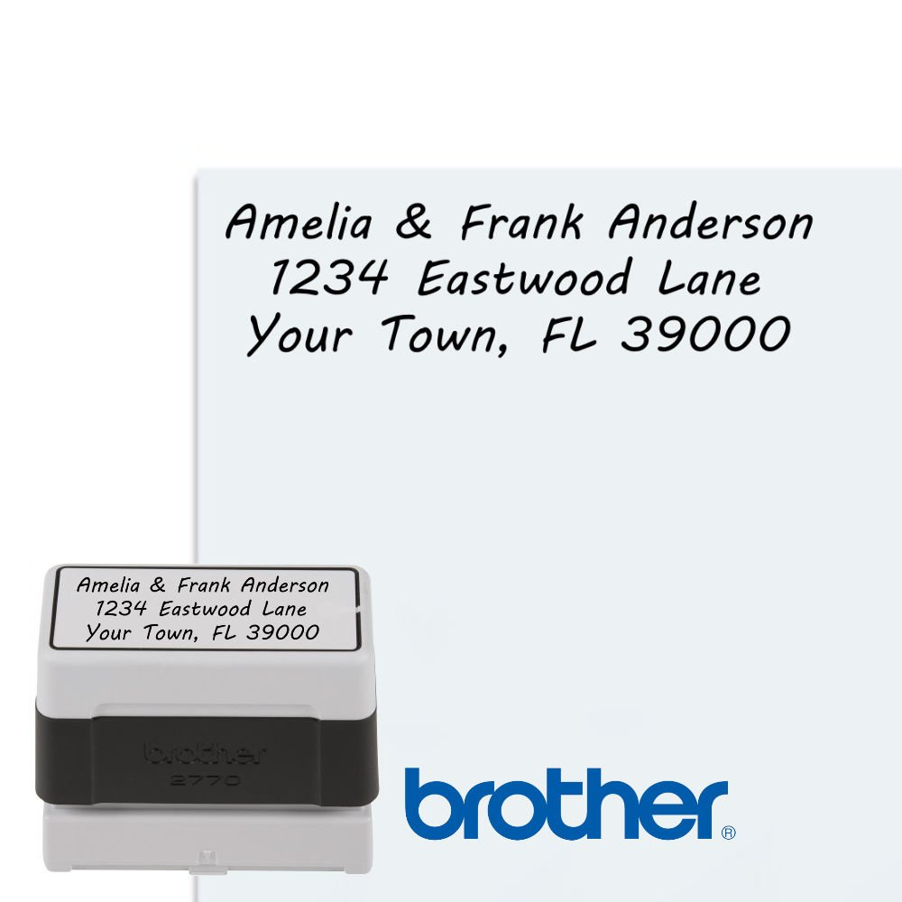 12 Block Styles Up to 4 lines Premium Self Inking Custom Easy Touch Return Address Stamp