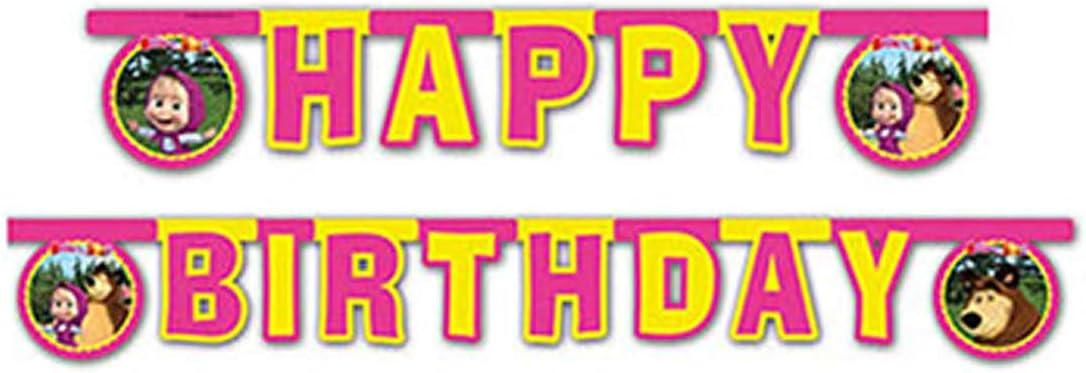 Amazon.com: Masha y el Oso feliz cumpleaños Garland: Toys ...