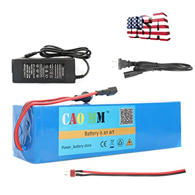 CAO MM Ebike Battery, 48V 8Ah Lithium ion Battery Pack with BMS Protection and Charger for 750W Electric Scooter Motor Bicycle : Sports & Outdoors