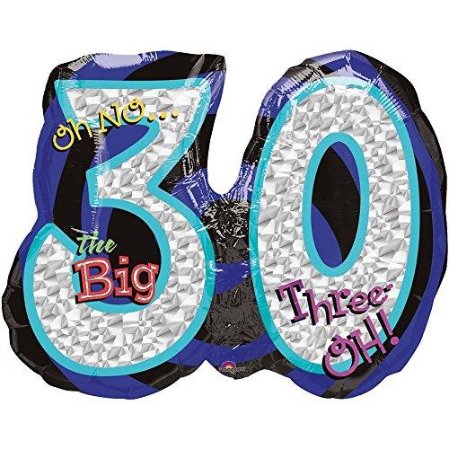 Mayflower BB19456 Oh No 30Th Birthday Shaped Balloon