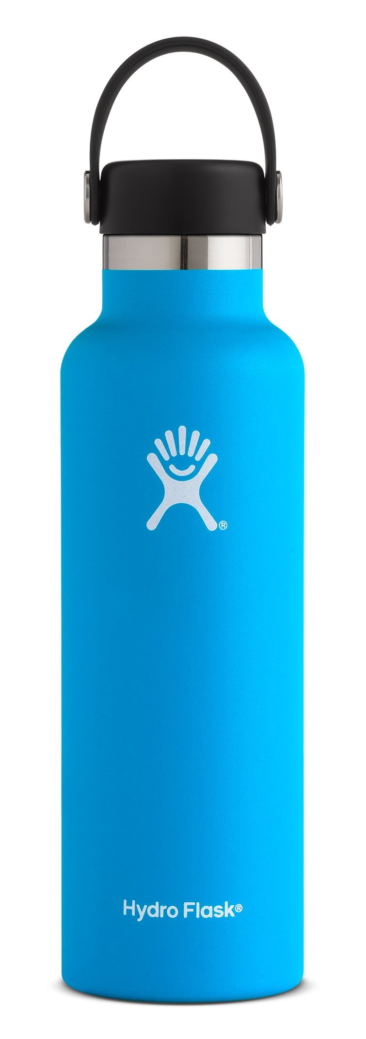 Hydro Flask 21 oz Double Wall Vacuum Insulated Stainless Steel Leak Proof Sports Water Bottle, Standard Mouth with BPA Free Flex Cap, Pacific