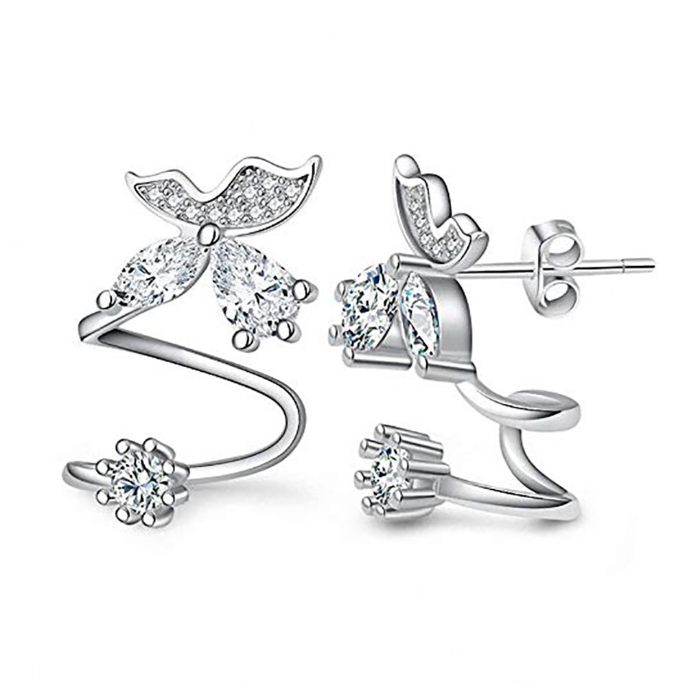 Amaer Hypo Allergenic Butterfly Wrap Earrings for Women Elegant Clip Earrings Studs