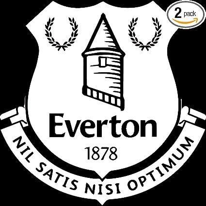 Amazon com: NBFU DECALS Premier League FC Everton Logo (White) (Set