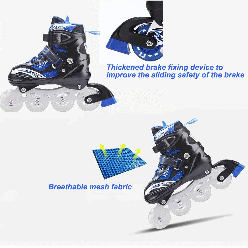 HYM Inline-Skates mit Light Up Wheels einstellbar einstellbar einstellbar Anfänger Roller Fun Flashing Illuminating Roller Skates für Kinder Jungen und Mädchen,Blau,L B07QRPTMF5 Rollschuhe Ästhetisches Aussehen 8c0954
