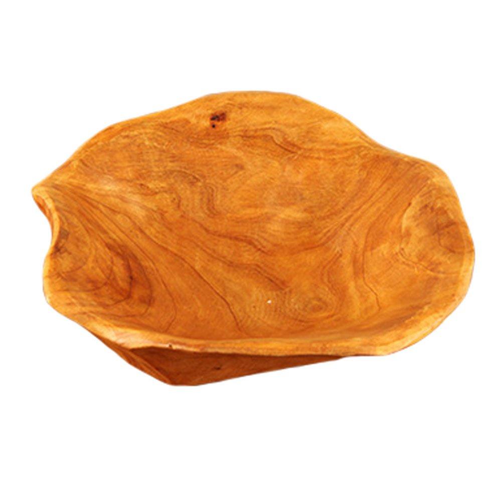 Durable Wood Plate Salad Plates Wooden Tray Bowl for Fruits/Snacks, Randomly Kylin Express