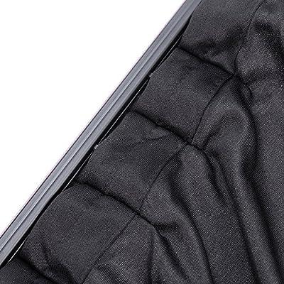 VORCOOL Car Side Window UV Protection Curtain Car Slidable Window Shield 2pcs (Black): Automotive