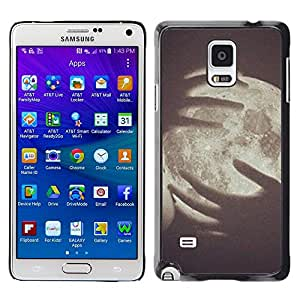 LECELL--Funda protectora / Cubierta / Piel For Samsung Galaxy Note 4 SM-N910 -- Art Vignette Meaning Deep Space --