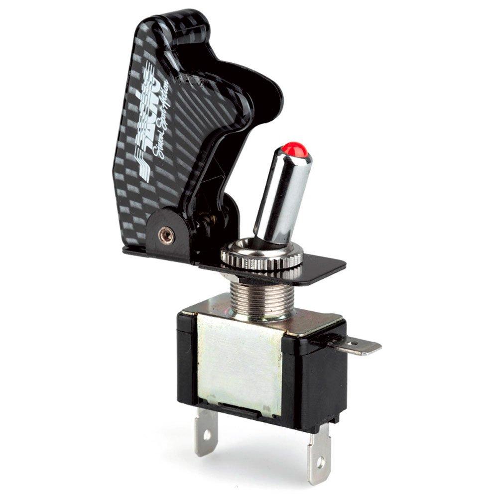 Simoni Racing ISR/1C-L Interruttore Universale con LED, Carbon Simoni Racing SPA