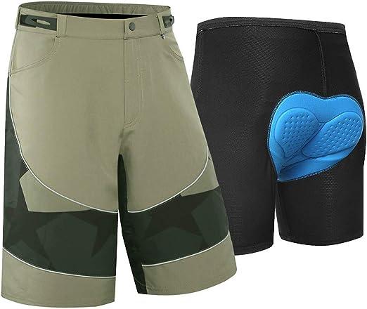 BINGFENG Pantalones Cortos De Bicicleta De Montaña para Hombre ...