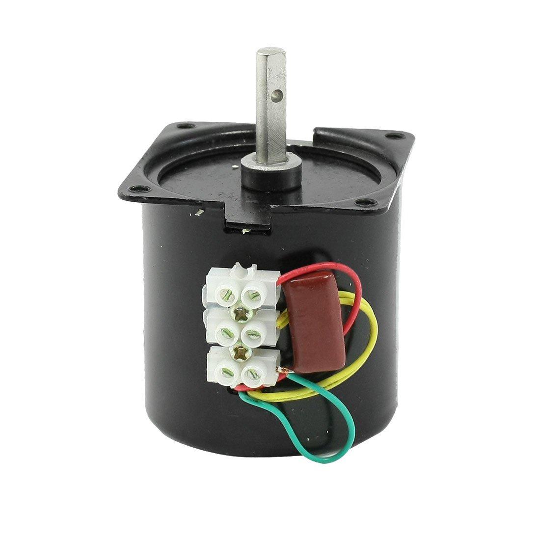 uxcell AC 220V 110RPM 14W 7mm Shaft Diameter Machine Synchronous Gear Motor