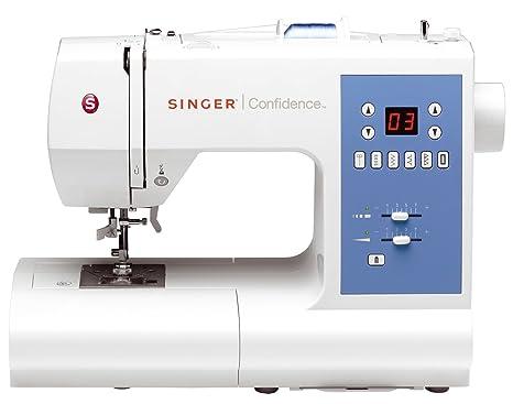Singer Confidence 7465 - Máquina de coser electrónica, 50 puntadas, color blanco