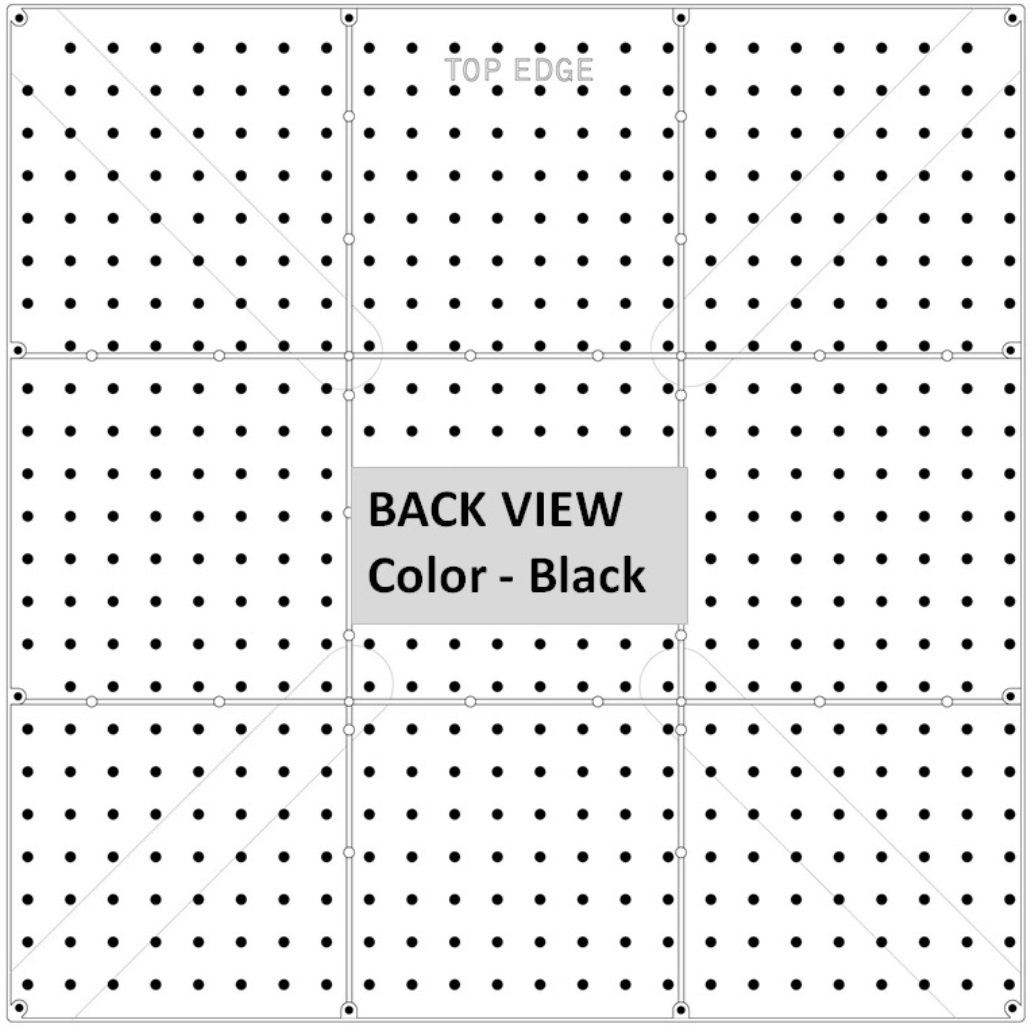 PEGBOARD PANELS by WallPeg - Peg Board Plastic Pegboard Kit 24''x24'' (12, White) by WallPeg (Image #4)