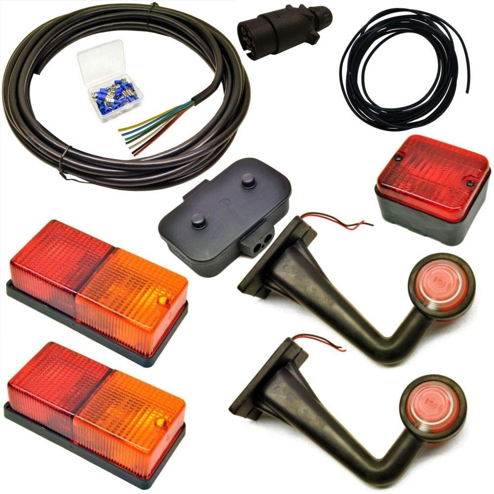 Junction Box Plug 5m Wire Trailer Light Wiring Kit Terminal Large Lights Archives Midweek Com