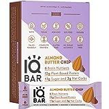 IQBAR Brain + Body Protein Bars, Almond Butter Chip, Keto, Vegan, Paleo Friendly, Low Sugar, Low Net Carb, High Fiber…