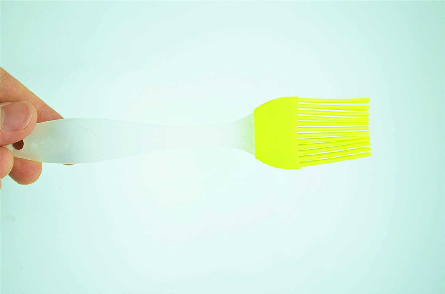 HauCare Silicone Pastry//Basting Brush with Hygienic Solid Coating by TM Red 7 Inches Long