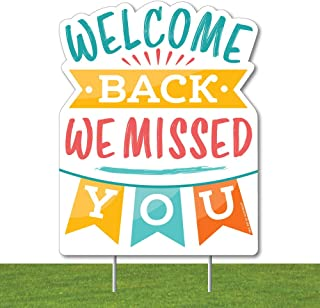 product image for Big Dot of Happiness Welcome Back - Outdoor Lawn Sign - We Missed You Yard Sign - 1 Piece