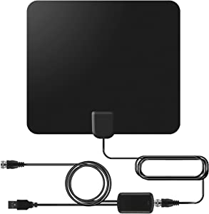 OHDERII Digital HDTV Antenna, 50 to 80 Mile Amplified Range, 1080p & 4K UHD TV Compatible, 13ft Cable