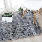 OJIA Deluxe Soft Fuzzy Fur Rugs Faux Sheepskin
