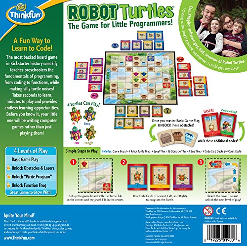 Think Fun Robot Turtles STEM Toy and Coding Board Game for Preschoolers - Made Famous on Kickstarter, Teaches Programming Principles to Preschoolers