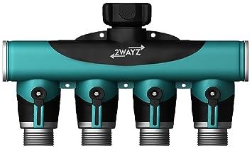 Amazoncom 2wayz Premium 4 Way Garden Hose Splitter Stop