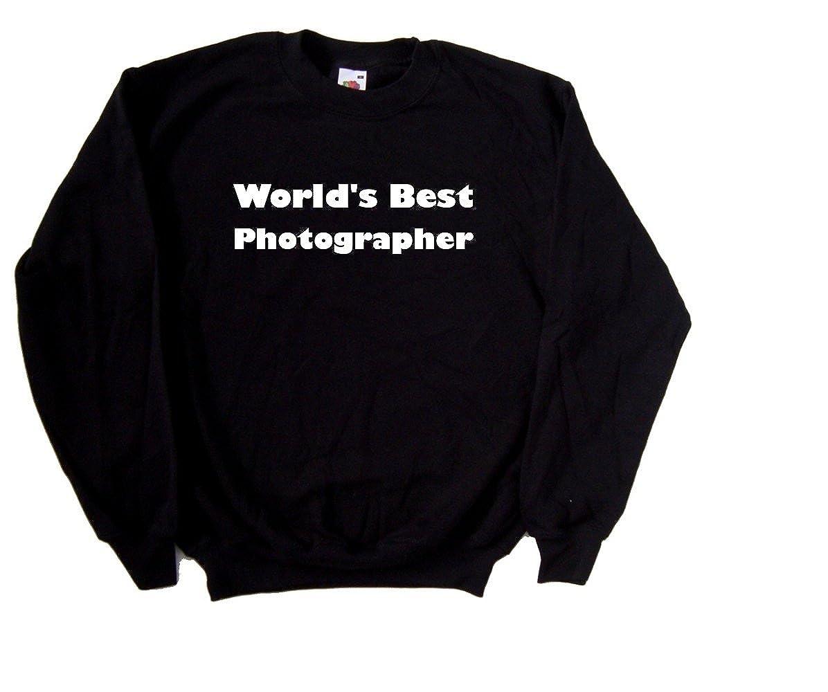 Worlds Best Photographer Black Sweatshirt