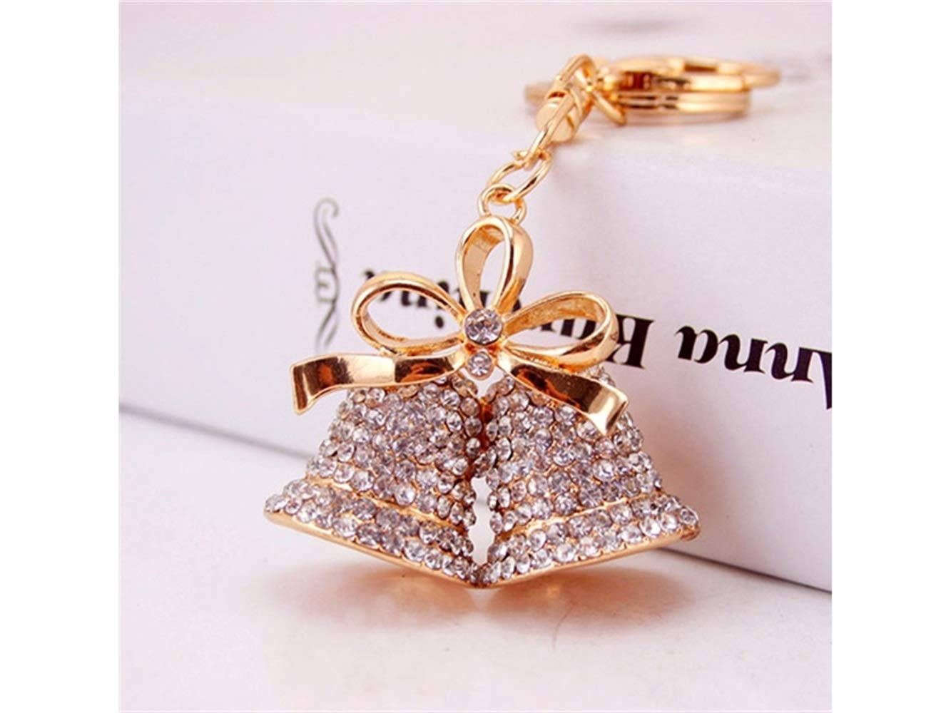 MJY Exquisito bolso monedero colgante llavero para Navidad ...