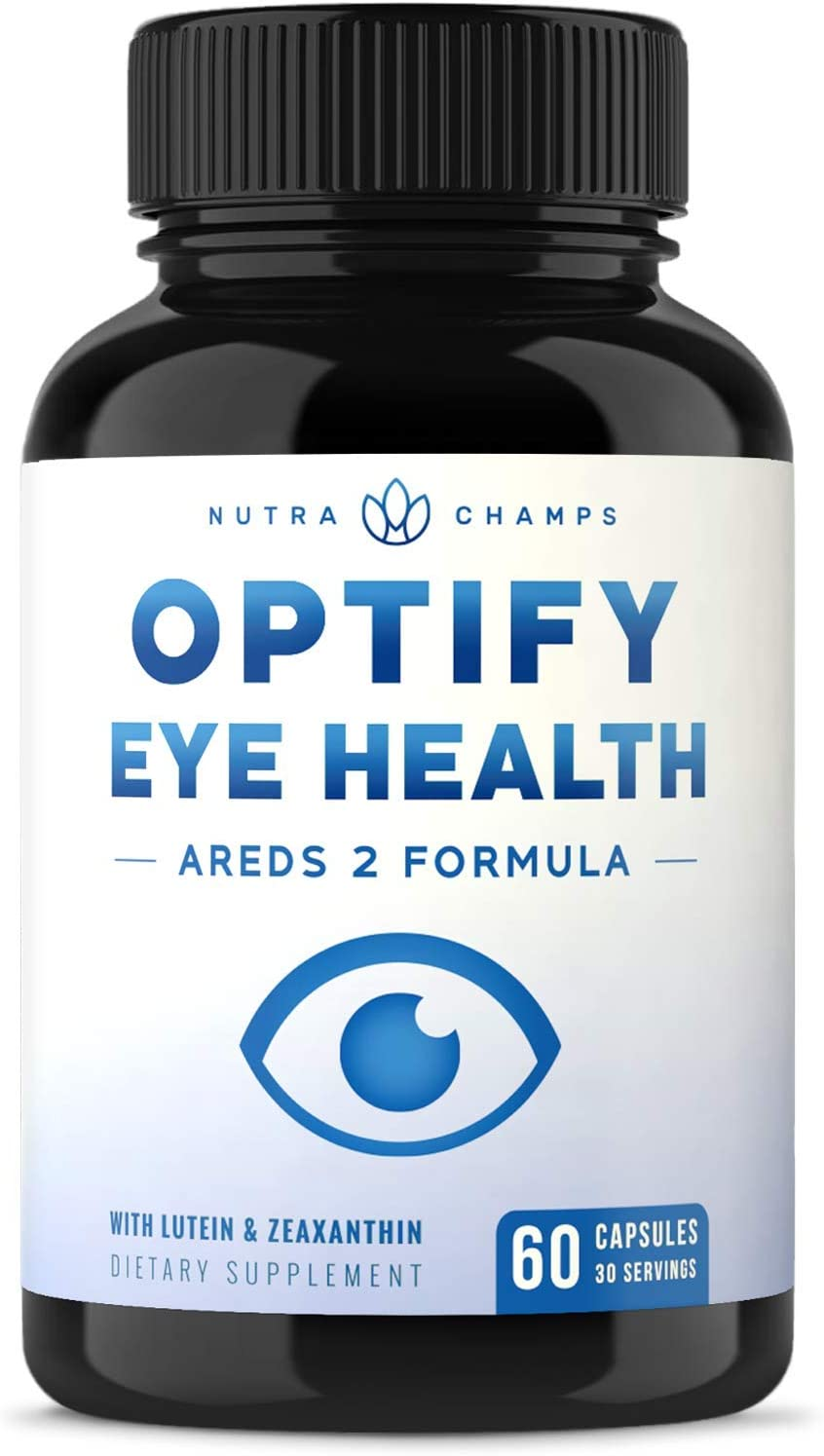 Eye Vitamins with Lutein & Zeaxanthin - AREDS 2 Formula for Macular Degeneration, Strain, Dry Eyes & Vision Health Support - Eye Care Ocular Supplement Enhanced with Omega 3 Powder & Bilberry Extract