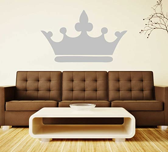 Princess Wall Decals Crown Pink Gray Gold Silver Home Decor For Girls
