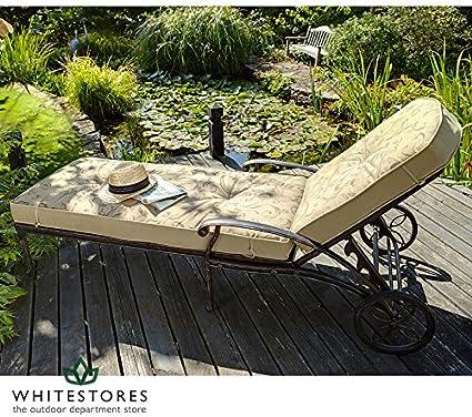 Amazon De Hartman Outdoor Mobel Amalfi Bronze Gartenliege Mit Wendekissen