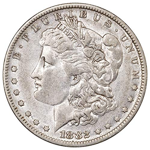 1882 S Morgan Silver Dollar $1 About Uncirculated