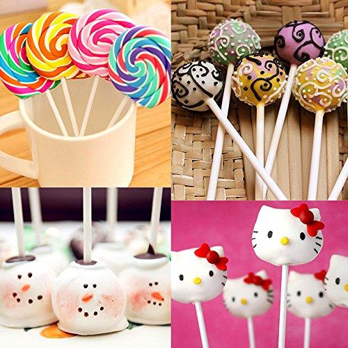 a933f8ae81d Augshy 300 Pcs Set Including 100 pack Lollipop treat Sticks,100 Pieces of  Lollipop Parcel