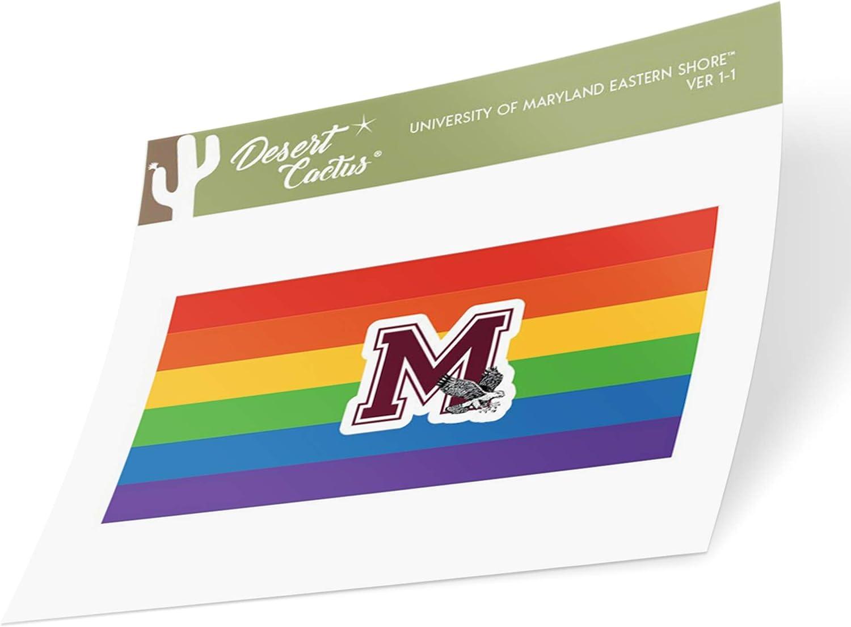 Gay Flag Logo Sticker University of Maryland Eastern Shore UMES Hawks NCAA Vinyl Pride Decal Laptop Water Bottle Car Scrapbook