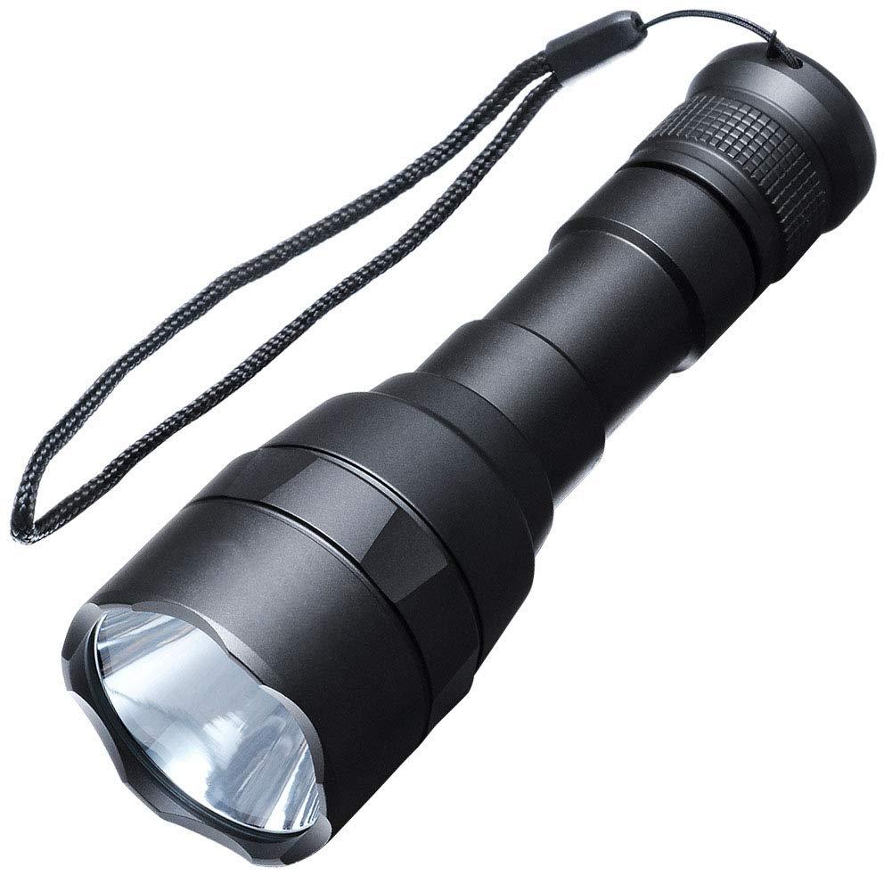 Starkes Licht Taschenlampe, Outdoor wasserdicht Reiten LED wiederaufladbare Taschenlampe XML L2 1000Lm Super Bright Taschenlampe Strong Light, Single 18650 Lithium-Batterie-Treiber, schwarz