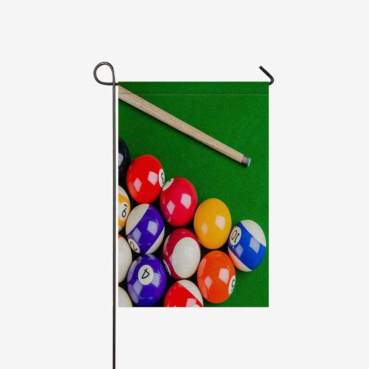BoloHome Banderas de Jardín Bolas de Billar con Billar Cue Snooker ...