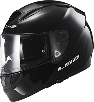 LS2 103971012M FF397 Casco Vector Solid, Color Negro, Tamaño M
