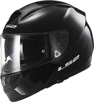 LS2 103971012M FF397 Casco Vector Solid, Color Negro, Tamaño M