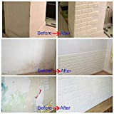 Arthome 10 Pack 56.9 Sq.Ft Faux Foam Bricks 3D Wall Panels Peel and Stick Wallpaper for Living Room Bedroom Background Wall Decoration