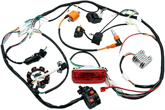 [ZSVE_7041]  Amazon.com: Complete Electrics 4 Stroke ATV QUAD 150 200 250 300CC Wiring  Harness CDI 8 Coil Stator Tail Light Zongshen Lifan: Automotive | Zongshen 4 Wheelers Wiring Diagram |  | Amazon.com