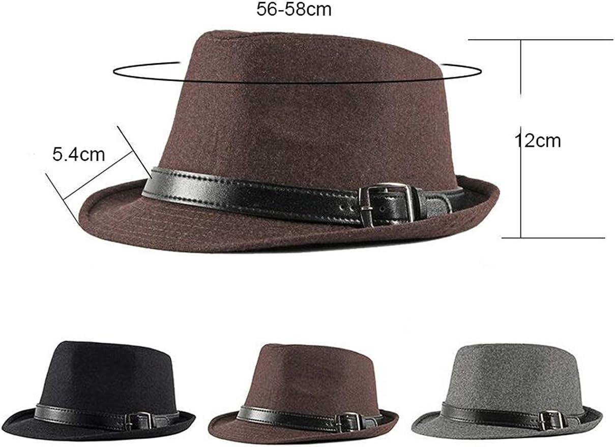 d Hiver Chapeau Fedora Homme Loisir Vintage en Plaid Tweed Jazz Chapeau