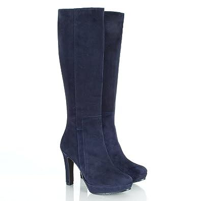 39c6709e5e1 Daniel Navy Suspicious Women s Knee High Boot Navy Suede UK 8 ...