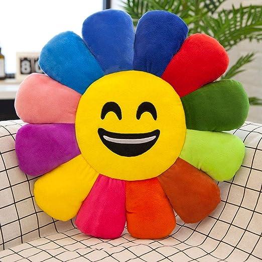 ESTELLEF Cojín de Asiento Colorido con Emoticono arcoíris ...