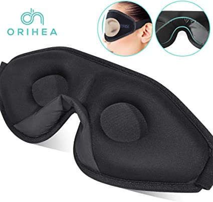 PRETTY SEE Sleep Mask 3D Blindfold Eye Mask for Women and Men Sleeping mask with