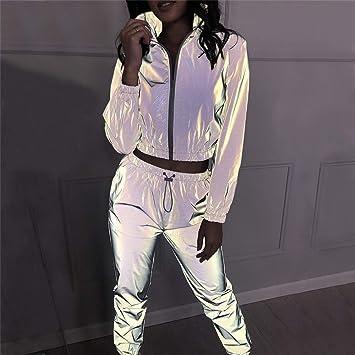 Jxth Chaqueta Clubwear Reflectante para Mujer Deportes de ...