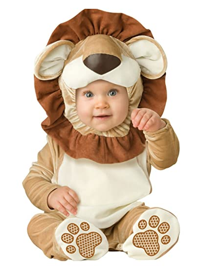 León animales bebé disfraz 3 – 24 M manga larga de franela One piece bebé ropa