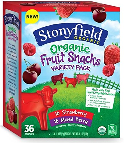 Stonyfield Organic Fruit Snacks, Assorted Flavors, 33.6 Ounce by Stonyfield Organic