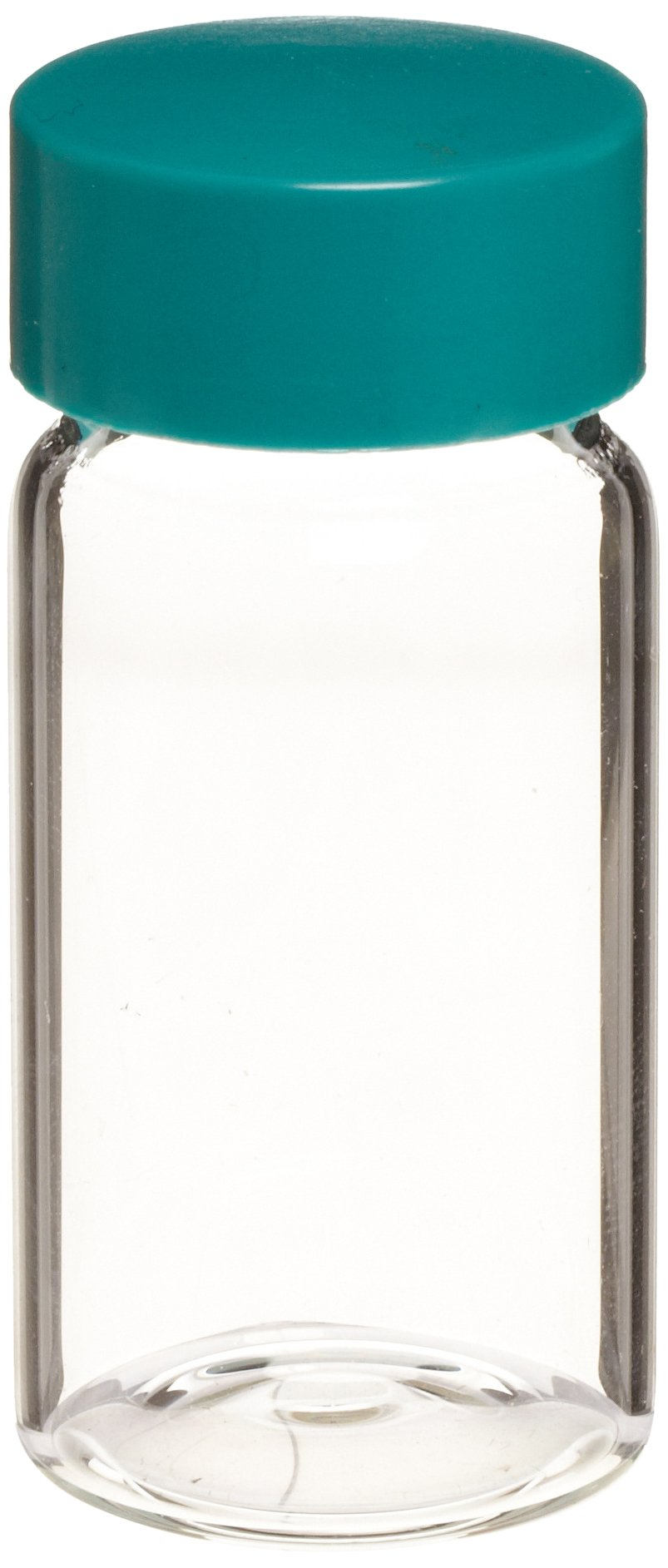 Chemglass CG-4900-05 Borosilicate Glass 30mL Clear Scintillation Vial, with Solid PTFE Lined Cap (Pack of 144)