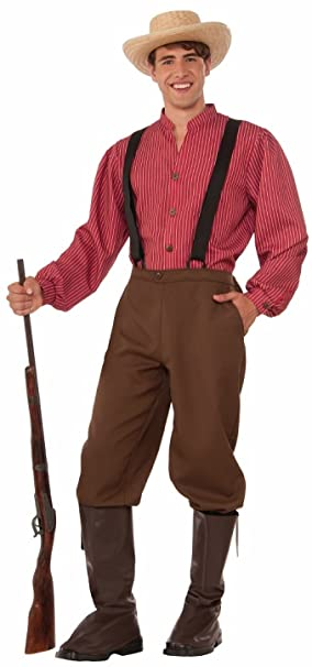 Victorian Men's Clothing, Fashion – 1840 to 1900 Forum Mens Pioneer Man Costume $27.90 AT vintagedancer.com
