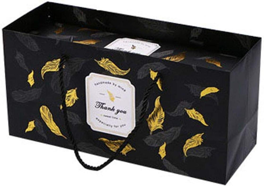 Caja de regalo de papel de mármol para galletas de turrón Informal talla única C2: Amazon.es: Hogar